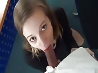 Cute girl makes her first anal video