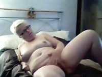 Veronique blonde BBW volwassen.